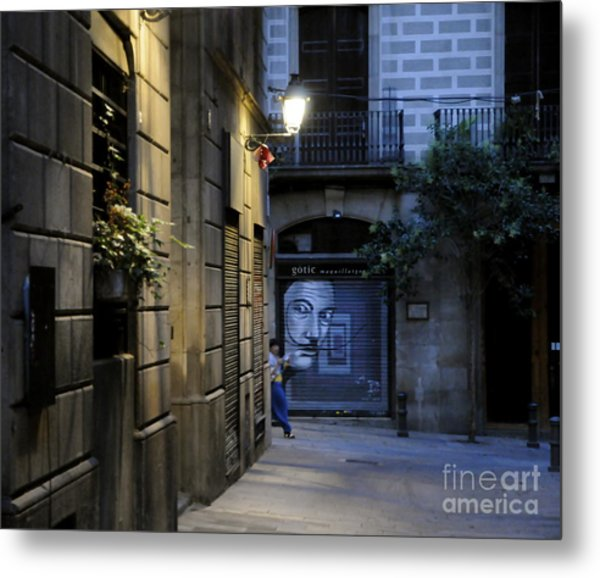 Barcelona Graffiti Metal Print
