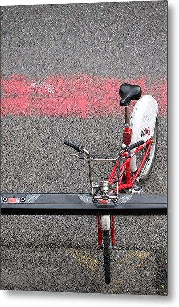 Barcelona Spain Bicycle Metal Print
