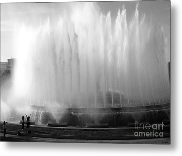 Barcelona Water Fountain Joy Metal Print