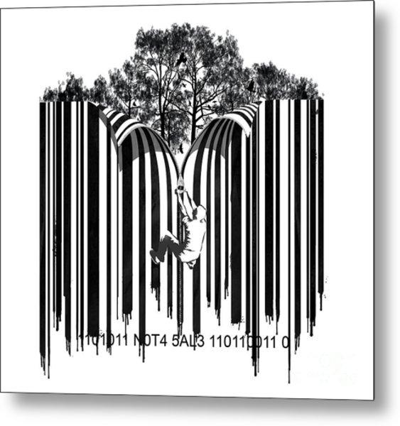 Barcode Graffiti Poster Print Unzip The Code Metal Print