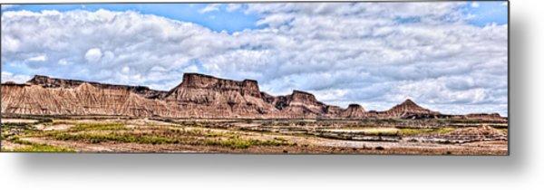 Bardenas Desert Panorama 1 Metal Print