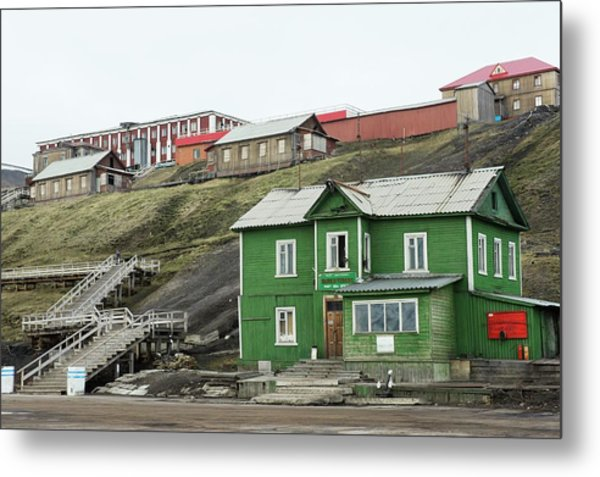 Barentsburg Metal Print by Dr P. Marazzi/science Photo Library