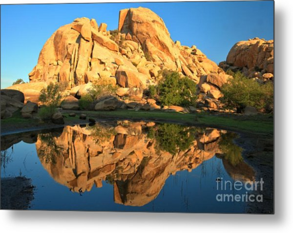 Barker Dam Pond Reflections Metal Print