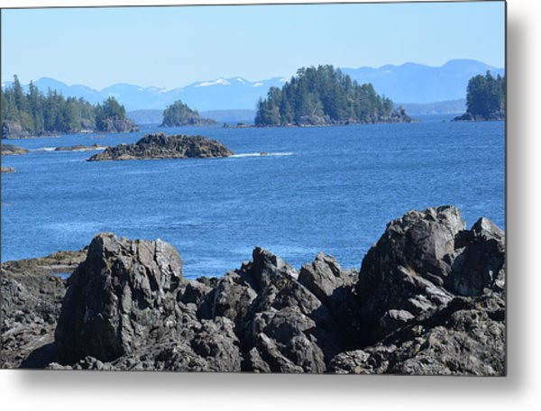Barkley Sound And The Broken Island Group Ucluelet Bc Metal Print