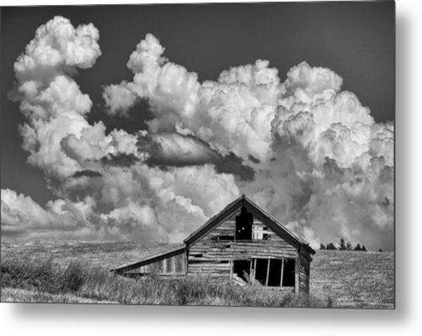 Barn And Clouds Metal Print by Latah Trail Foundation