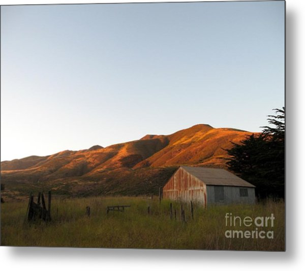 Barn At Garrapata State Park Metal Print