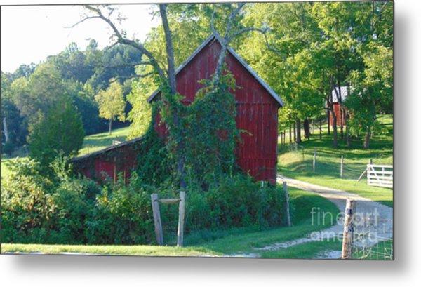 Barn At Piney River Metal Print