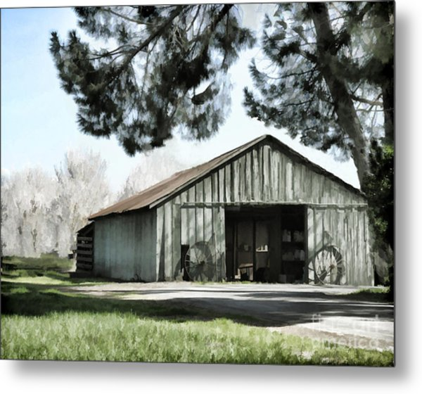 Barn At Vina Winery Metal Print