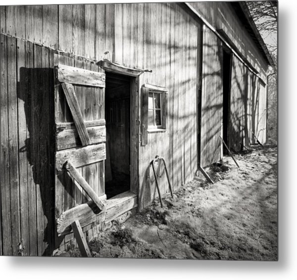 Barn Doors Metal Print