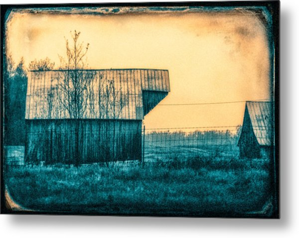 Barn Faceoff Metal Print