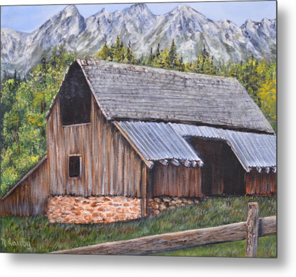 Barn From Yesterday Metal Print