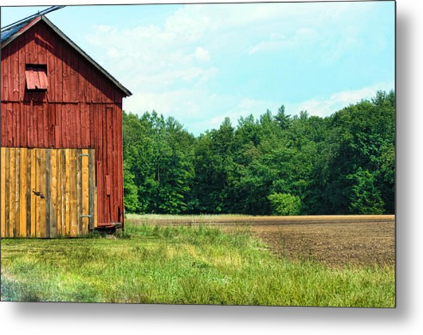 Barn Green Metal Print by Kenneth Feliciano