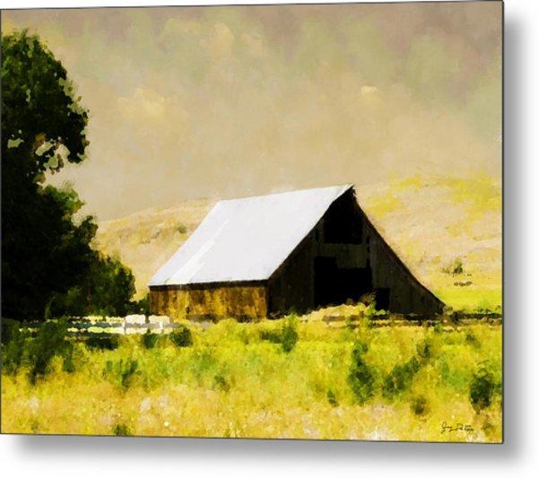Barn In Pasture   Metal Print