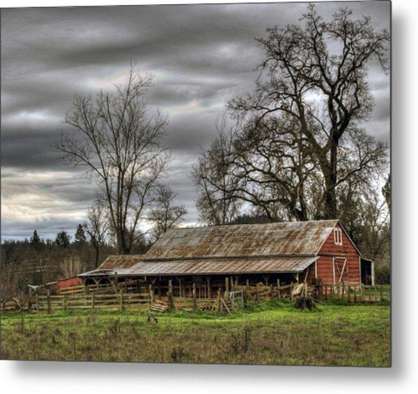 Barn In Penn Valley Metal Print