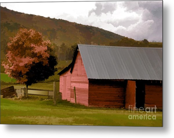 Barn In Vermont Metal Print