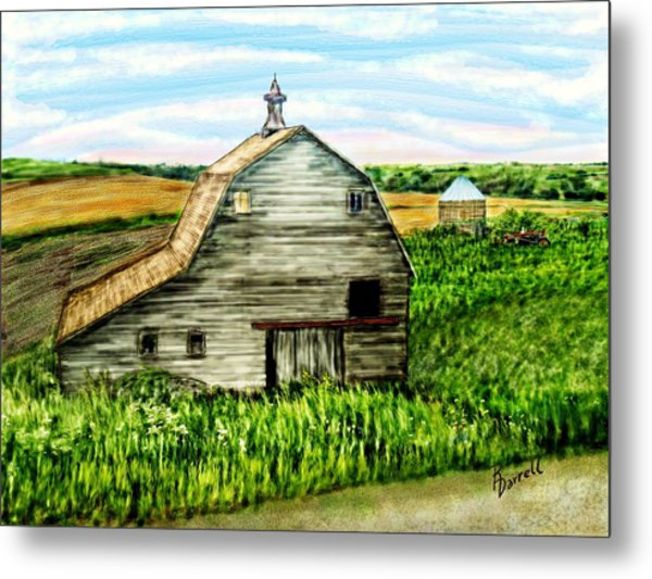 Barn Near Stanton Nebraska Metal Print