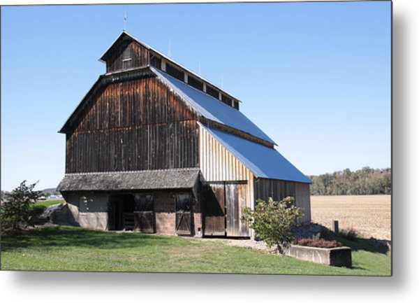 Barn On Hawkins Road Metal Print