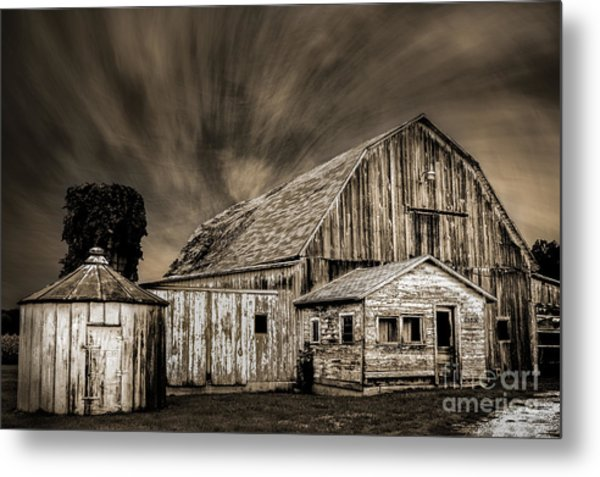 Barn On Hwy 66 Metal Print