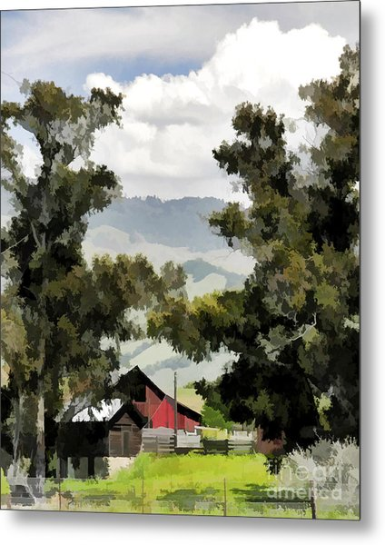Barn On Santa Rosa Road Metal Print
