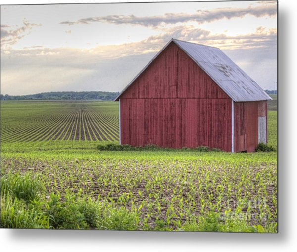 Barn Perspective Metal Print by Kent Taylor