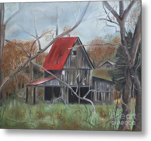 Barn - Red Roof - Autumn Metal Print