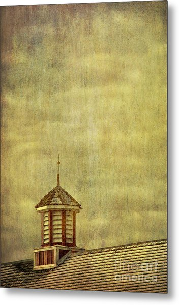 Barn Rooftop With Weather Vane Metal Print