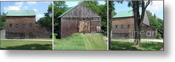 Barn Triptych Metal Print