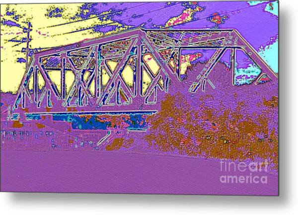 Barnes Ave Erie Canal Bridge Metal Print