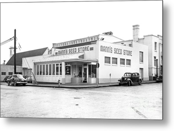 Metal Print featuring the photograph Barnes Seed Store by Merle Junk