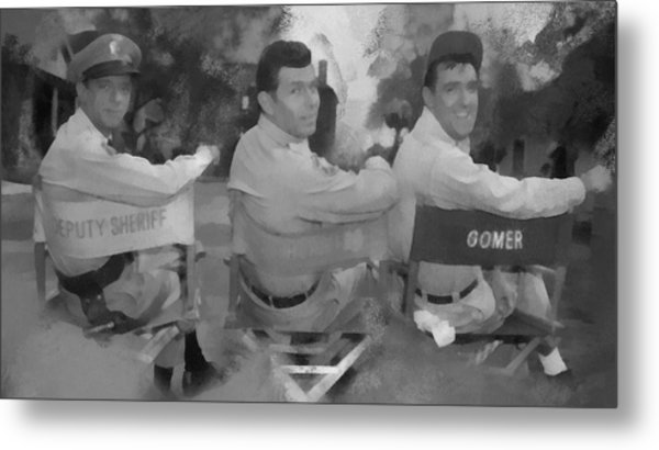Barney Andy And Gomer Metal Print