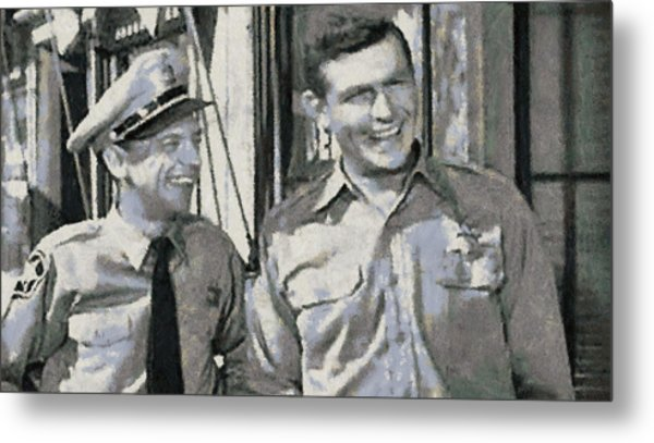 Barney Fife And Andy Taylor Metal Print
