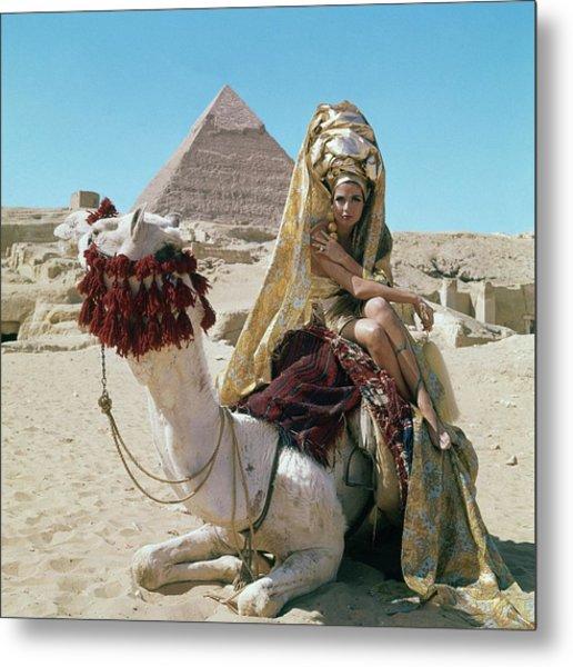 Baronne Van Zuylen On A Camel Metal Print
