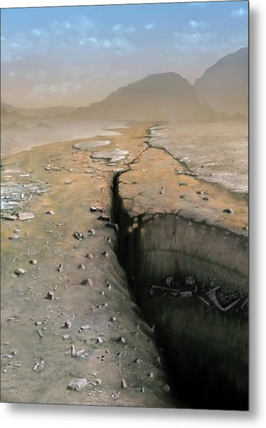Barren Future Earth Metal Print by Mark Garlick/science Photo Library