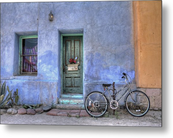 Barrio Bicycle Metal Print