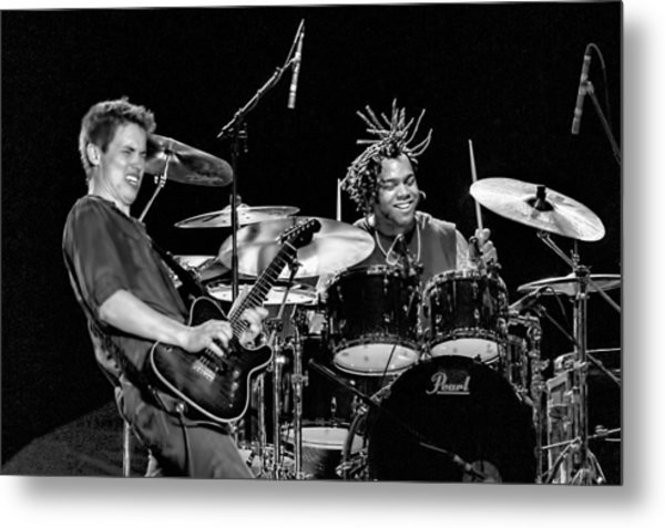 Barry Alexander Drumming For Johnny Lang Metal Print