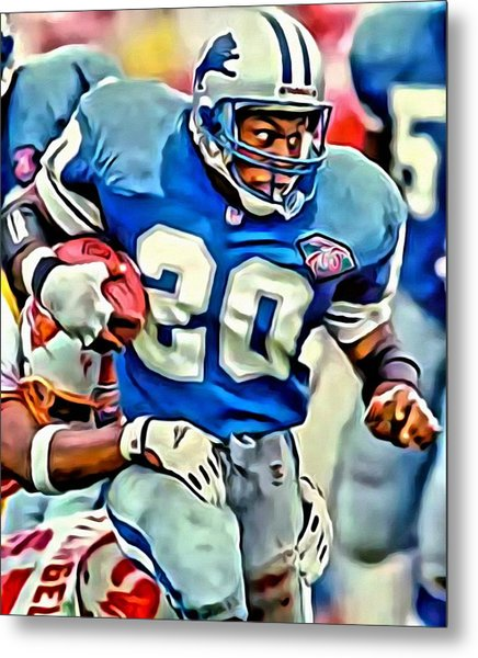Barry Sanders Metal Print