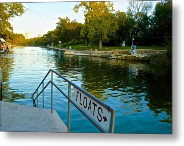 Barton Springs Pool In Austin Texas Metal Print