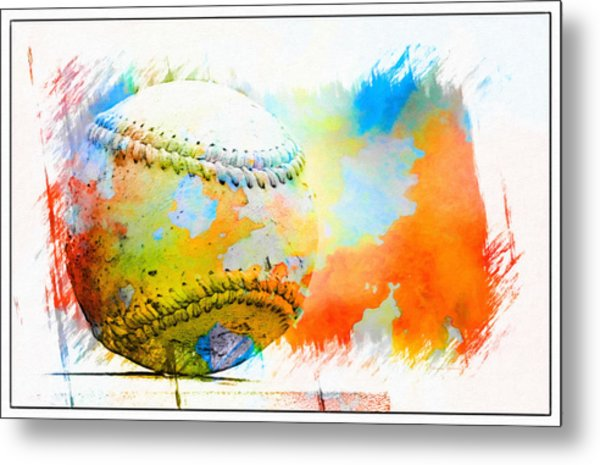Baseball- Colors- Isolated Metal Print