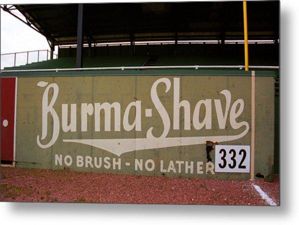 Baseball Field Burma Shave Sign Metal Print
