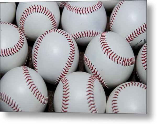 Baseball Metal Print by Malania Hammer