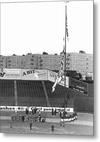 Baseball Opening Day In Ny Metal Print