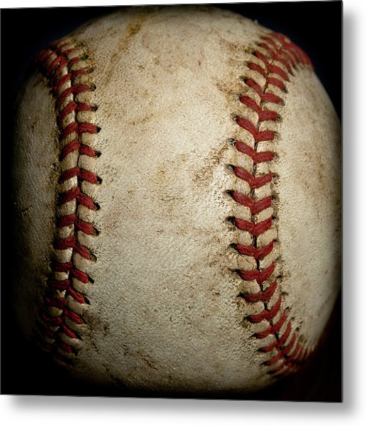 Baseball Seams Metal Print