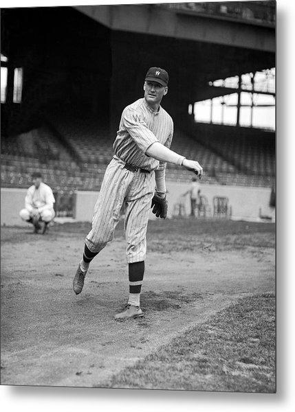 Baseball Star Walter Johnson Metal Print