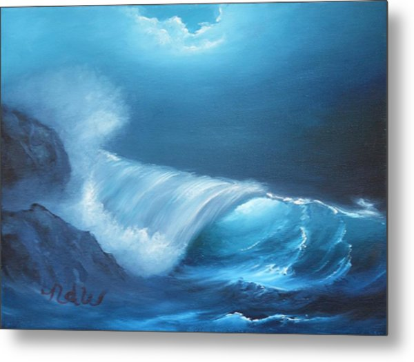 Basic Wave Metal Print