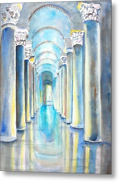 Basilica Cistern Istanbul Turkey Metal Print