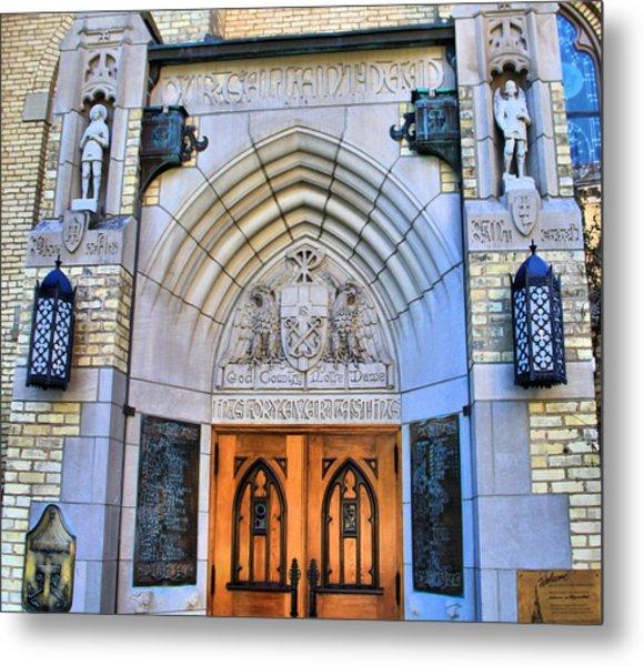 Basilica Of The Sacred Heart Entrance Metal Print