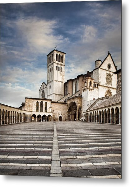 Basillica Of St Francis Of Assisi In Italy Metal Print