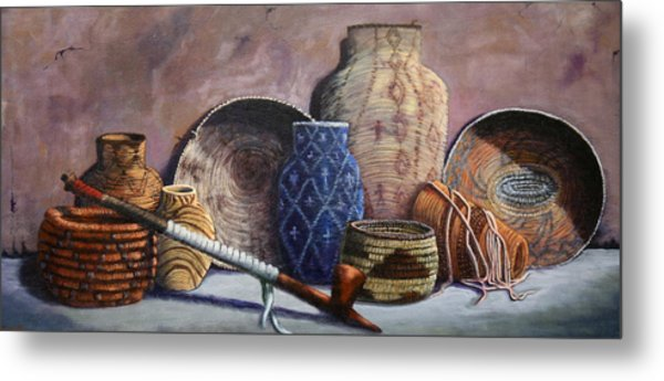 Basket Collection Metal Print