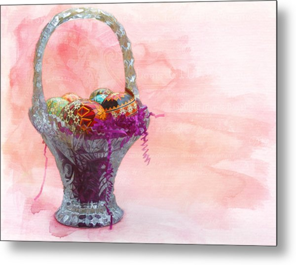 Basket Of Joy Metal Print