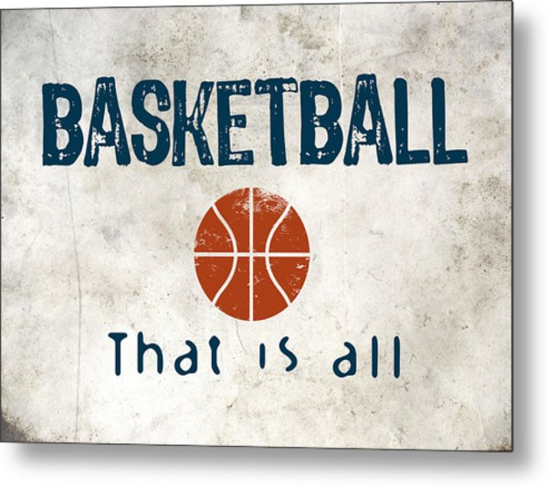 Basketball That Is All Metal Print